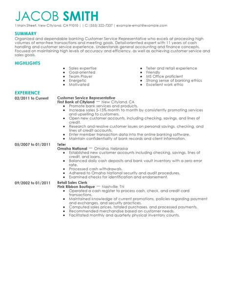 best financial customer service representative resume example livecareer patient services Resume Patient Financial Services Representative Resume