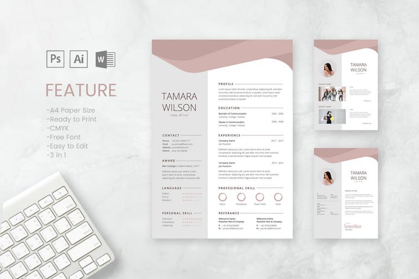 best free microsoft word resume cv cover letter templates and template tamara ceh fresher Resume Free Resume And Cover Letter Templates