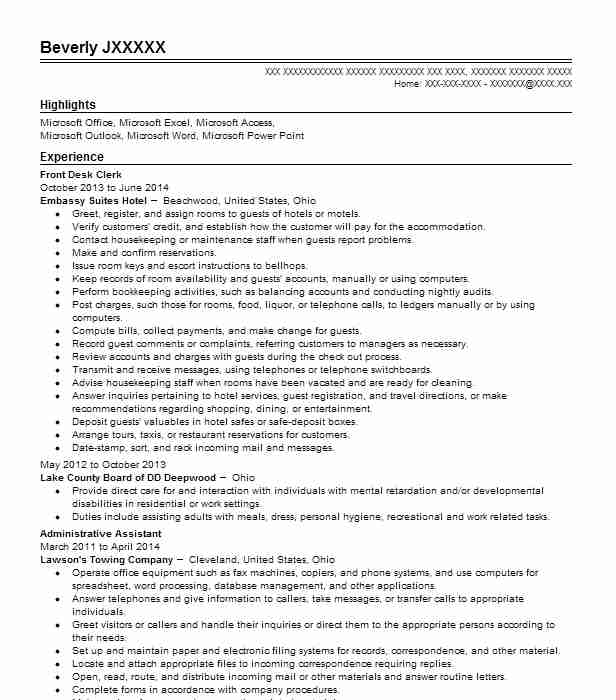 best front desk clerk resume example livecareer duties for psg marseille help examples Resume Front Desk Clerk Duties For Resume