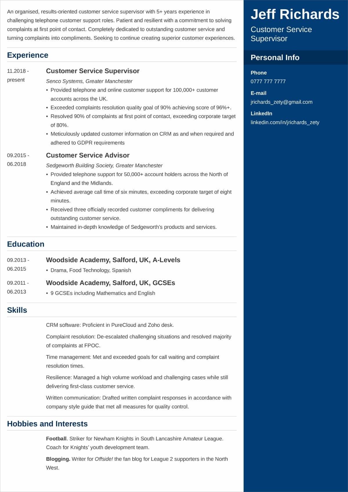 best hobbies and interests to put on cv examples for relevant resume free builder teens Resume Relevant Interests For Resume