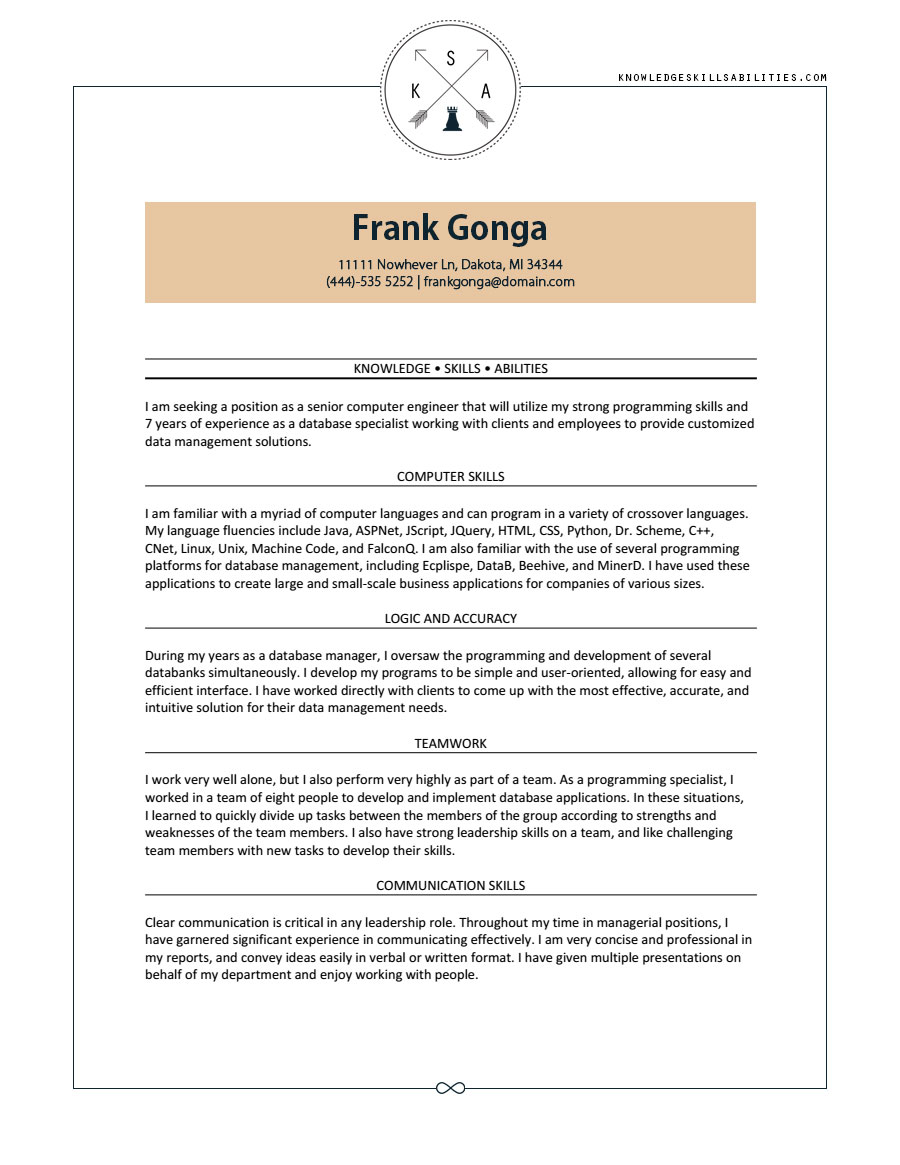 best knowledge skills and ability examples to follow federal resume ksa sample1 Resume Federal Resume Ksa Examples
