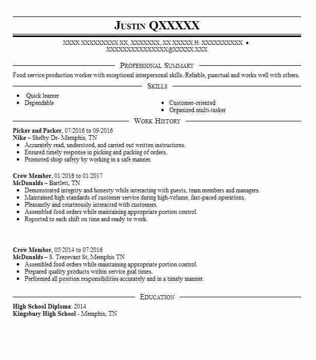 best picker and packer resume example livecareer objective registration specialist Resume Picker Packer Resume Objective