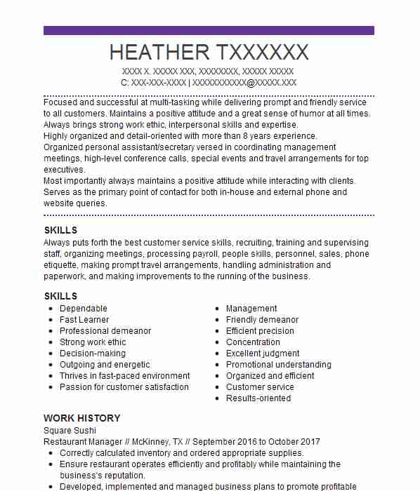 best restaurant manager resume example livecareer job summary or objective for dental Resume Restaurant Manager Job Resume