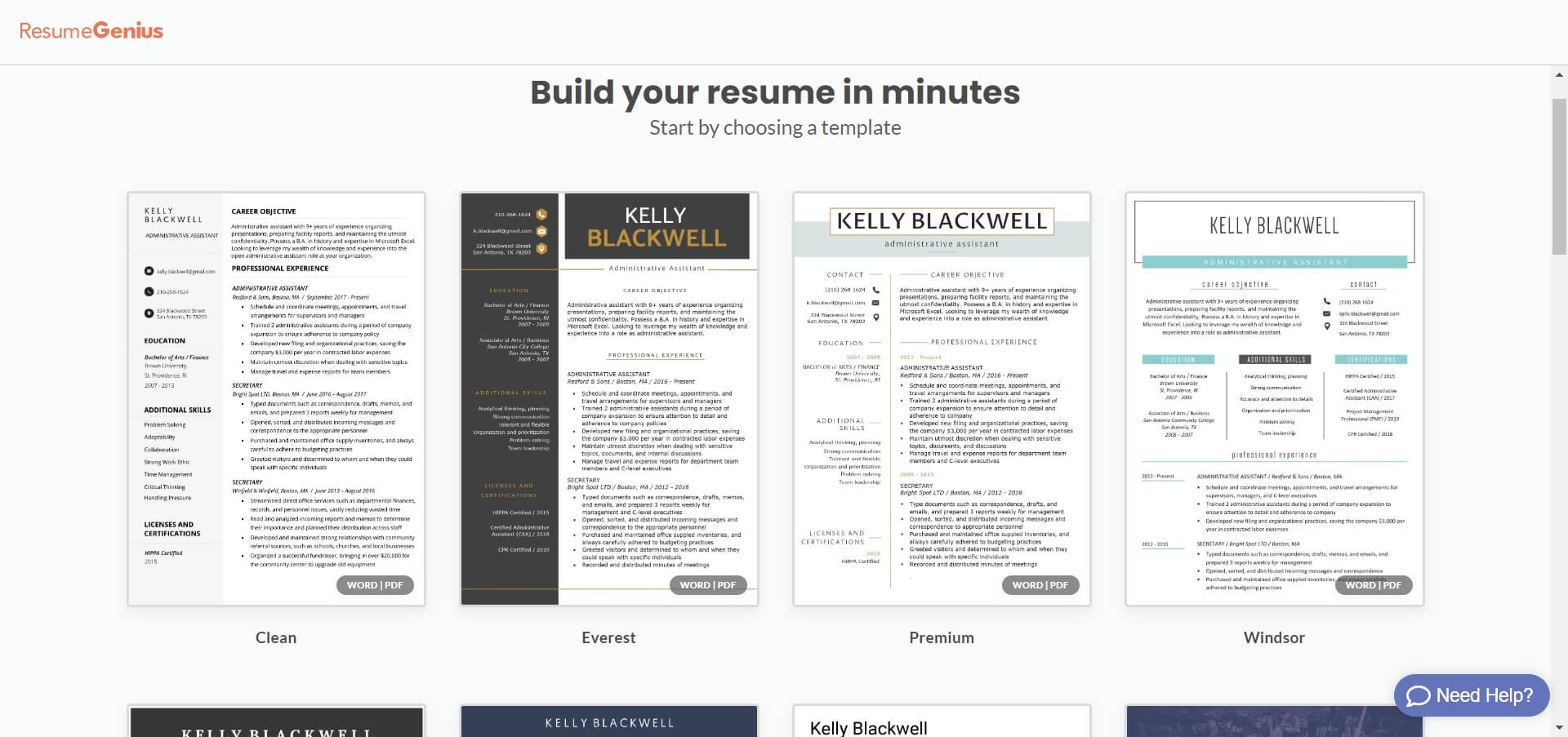 best resume builders in free paid all that saas dashboard genius objective for temp Resume Dashboard Resume Genius