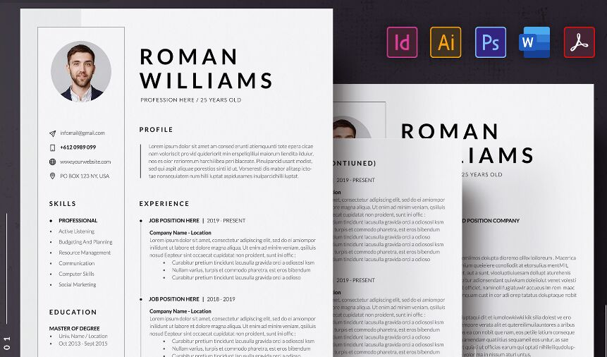 best resume cv templates for free update web resources the template resumecvcover letter Resume The Best Free Resume Template 2020