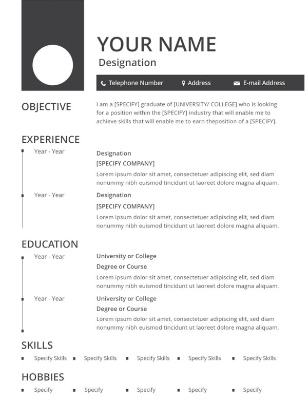 best resume formats pdf free premium templates format for experienced blank template Resume Best Resume Format For Experienced Free Download