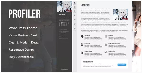 best vcard resume wordpress themes for your personal portfolio spice profiler theme sans Resume Profiler Vcard Resume Wordpress Theme