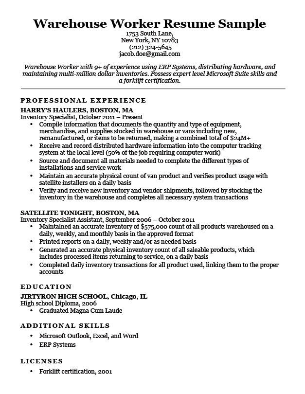best warehouse resume examples of objectives for workers associate sample with experience Resume Examples Of Resume Objectives For Warehouse Workers