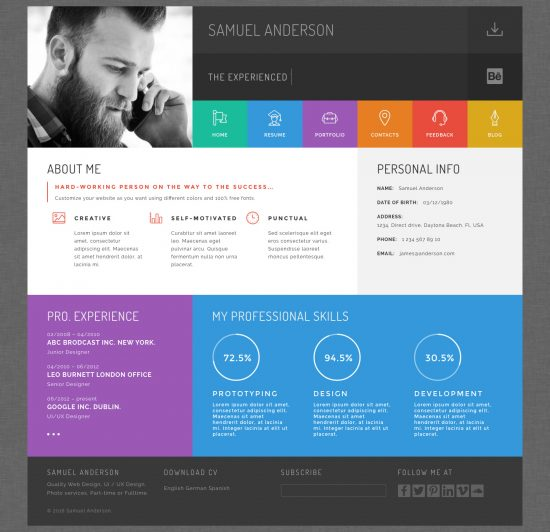 best wordpress resumes vcard themes for your cv profiler resume theme ideas skills fast Resume Profiler Vcard Resume Wordpress Theme