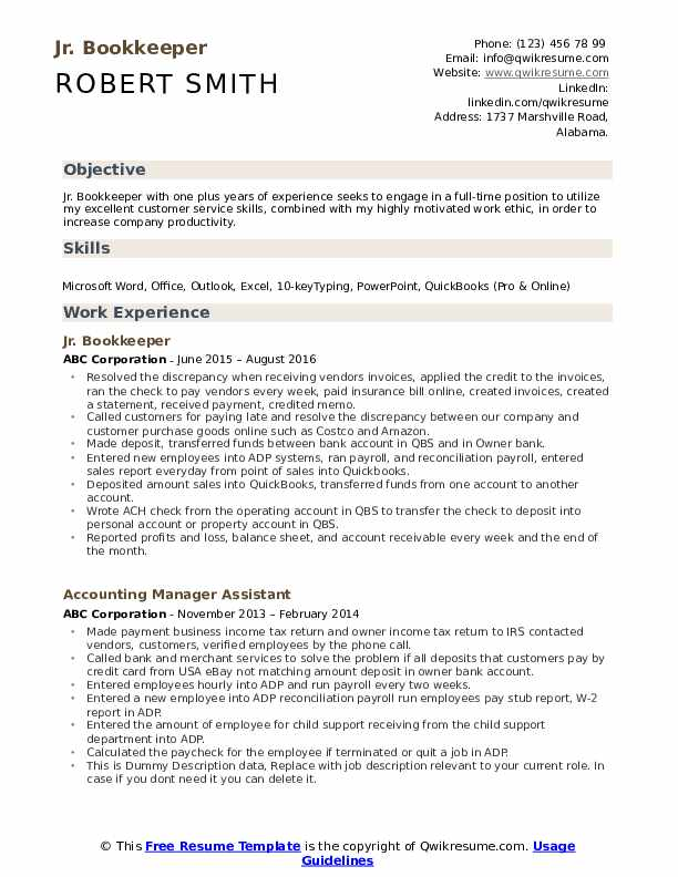 bookkeeper resume samples qwikresume example pdf banking testing for mba interview vp Resume Bookkeeper Resume Example