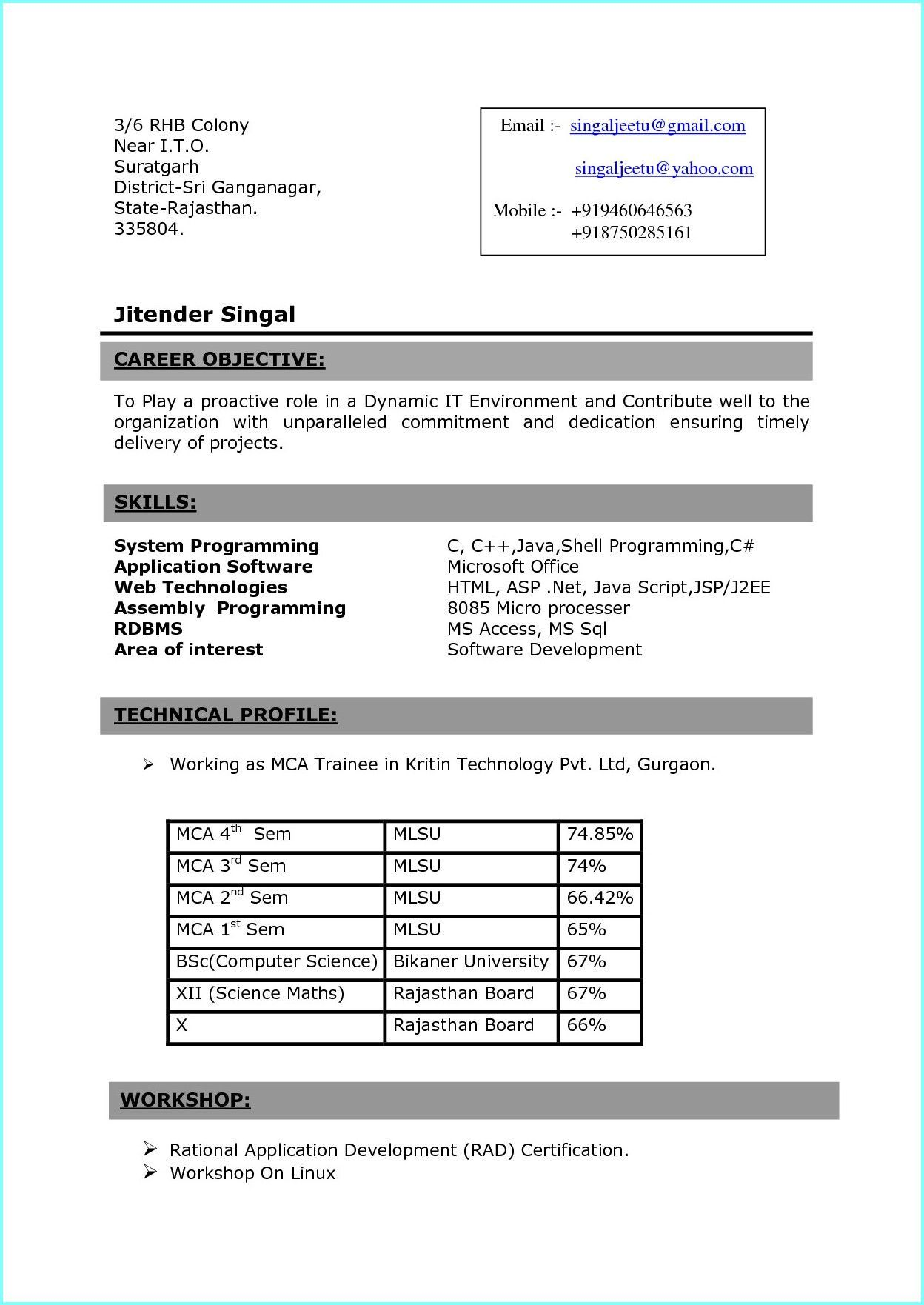 bsc nursing resume format for freshers examples in word sample fresher masters student Resume Sample Resume For Bsc Nursing Fresher