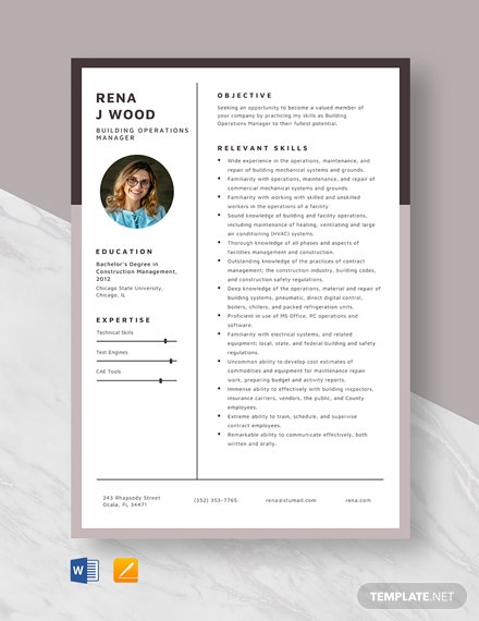 building operations manager resume template word apple mac net summary examples entry Resume Building Operations Manager Resume