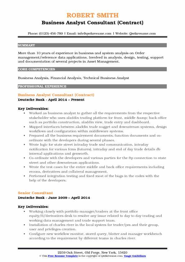 business analyst consultant resume samples qwikresume initiatives pdf medical lab general Resume Business Initiatives Consultant Resume