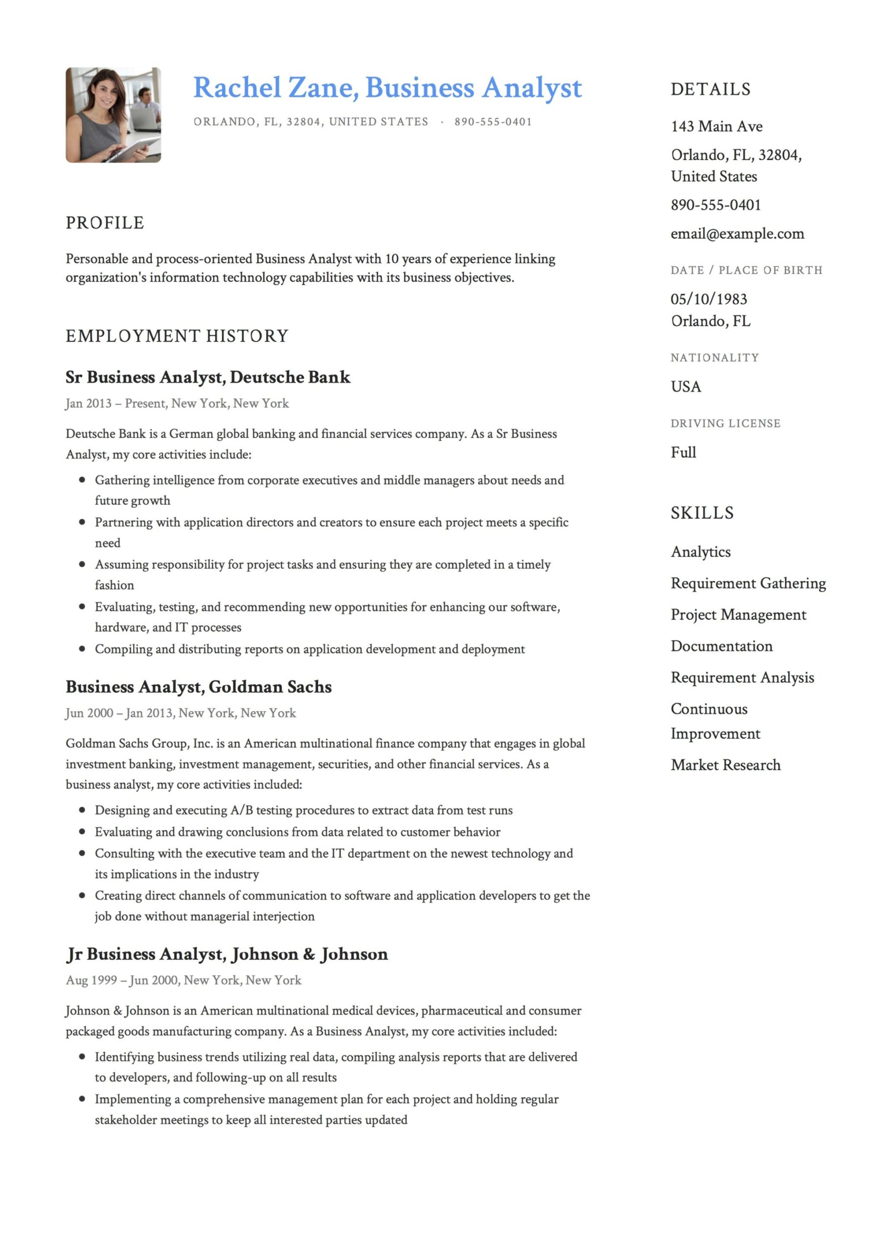 business analyst resume guide templates pdf free downloads sample for experienced years Resume Sample Resume For Experienced Business Analyst 2 Years
