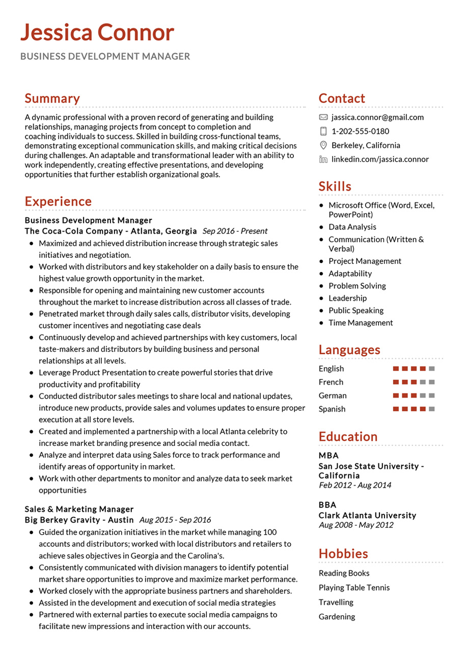 business development manager example resumekraft resume examples asset management words Resume Manager Resume Examples 2020