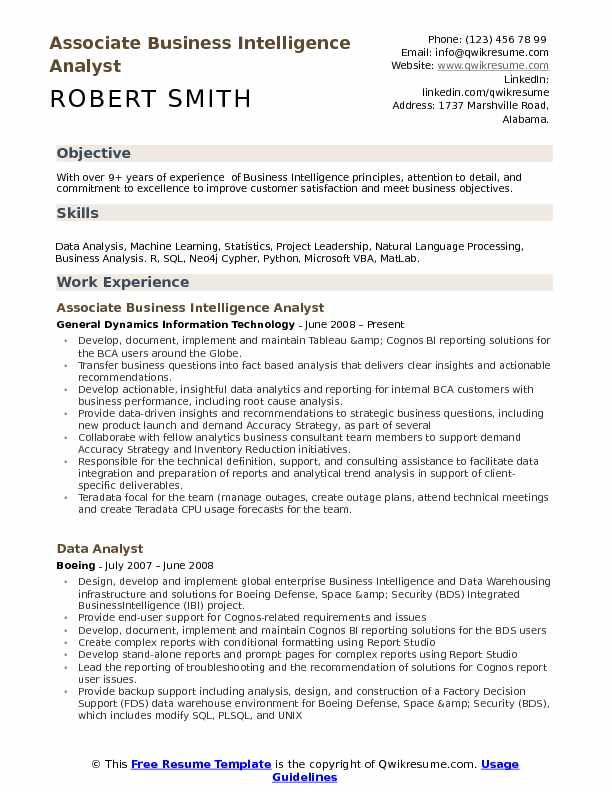 business intelligence analyst resume samples qwikresume oracle pdf best for recent Resume Oracle Business Intelligence Resume