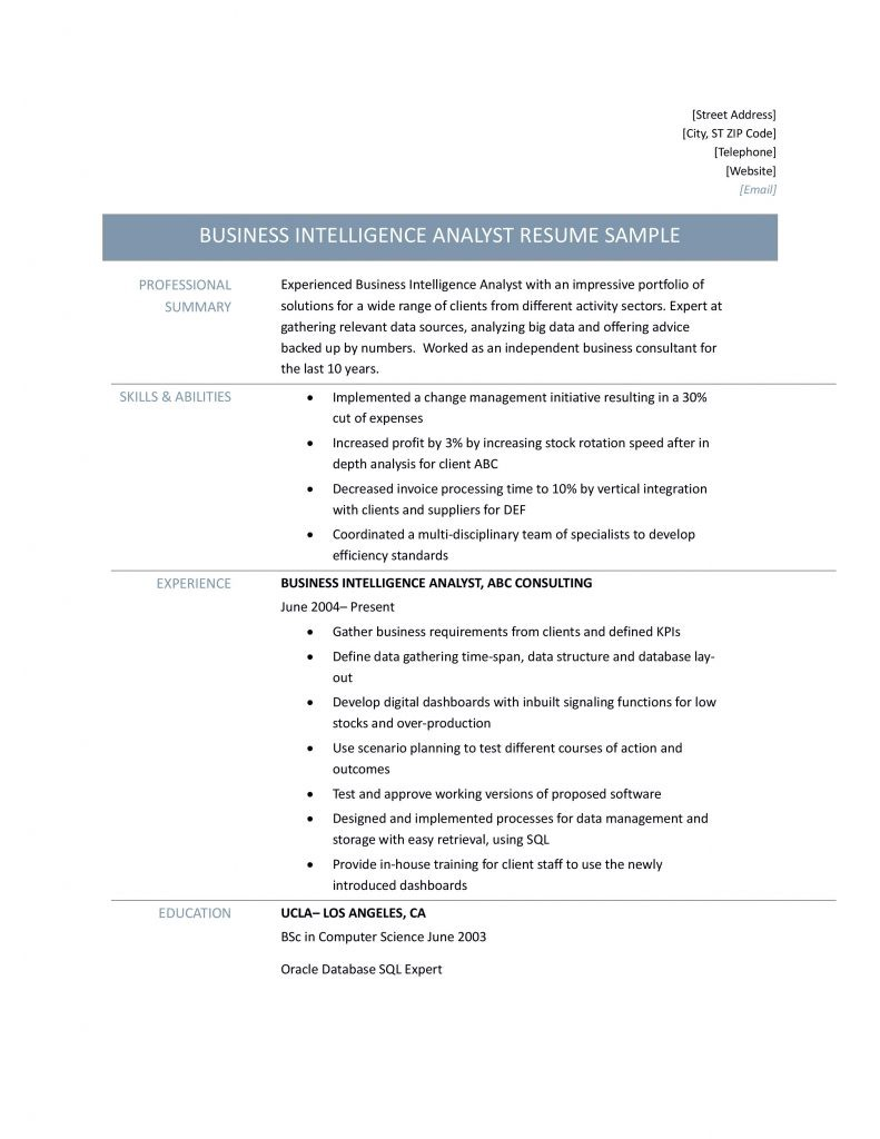business intelligence analyst resume samples tips and templates by builders medium oracle Resume Oracle Business Intelligence Resume