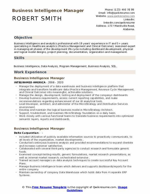 business intelligence manager resume samples qwikresume oracle pdf restaurant job duties Resume Oracle Business Intelligence Resume