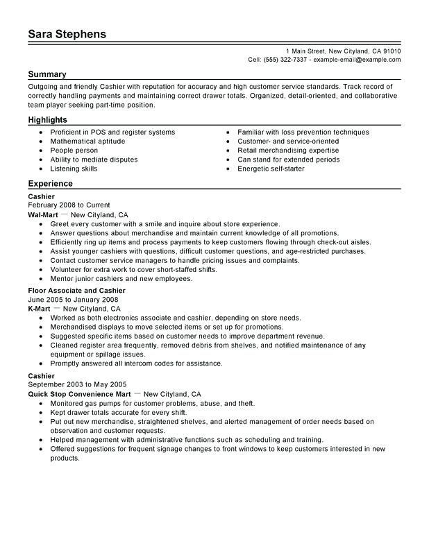 by cashier resume samples format experience for director position nandos system Resume Cashier Experience Resume