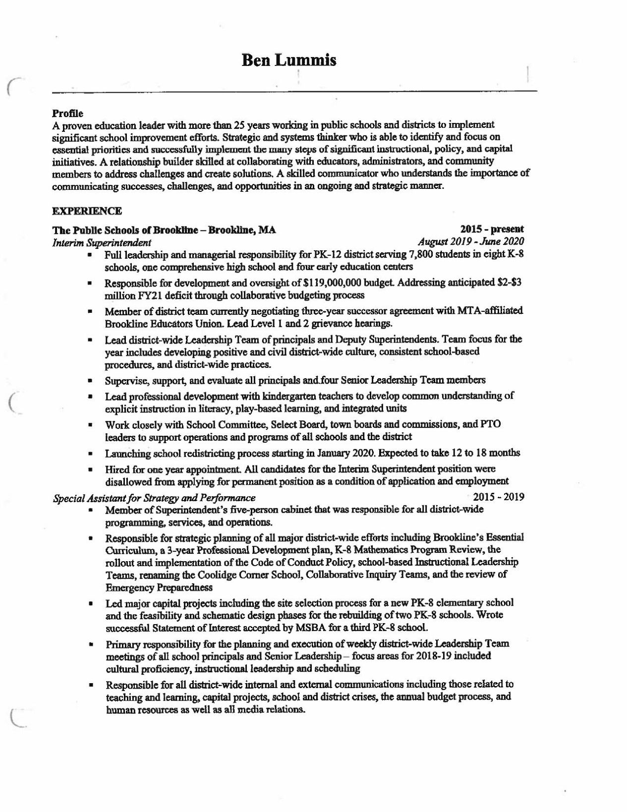 candidate resume ben lummis salemnews listings on crossword preview clinical research Resume Listings On A Resume Crossword