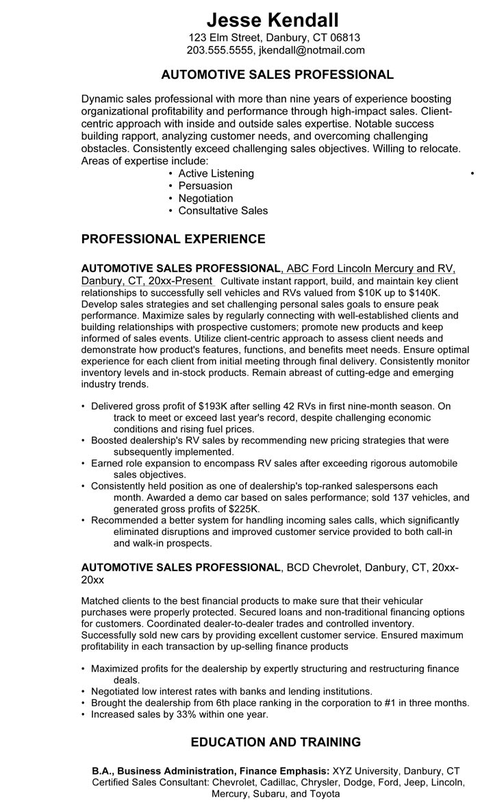 car salesman resume example dealership owner salesperson example3 fulfillment specialist Resume Car Dealership Owner Resume