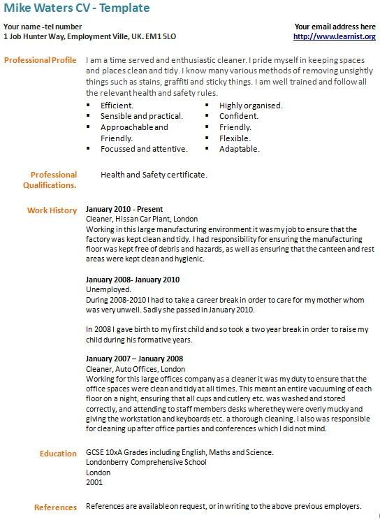 career break cv example template learnist best good resume examples sample with ojt Resume Sample Resume With Career Break