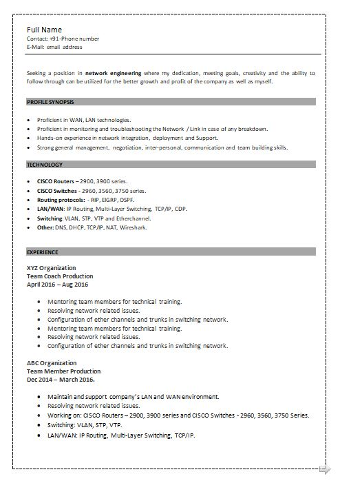 ccna resume samples top templates in fresher format free sample simple pic techniques Resume Ccna Fresher Resume Format Free Download