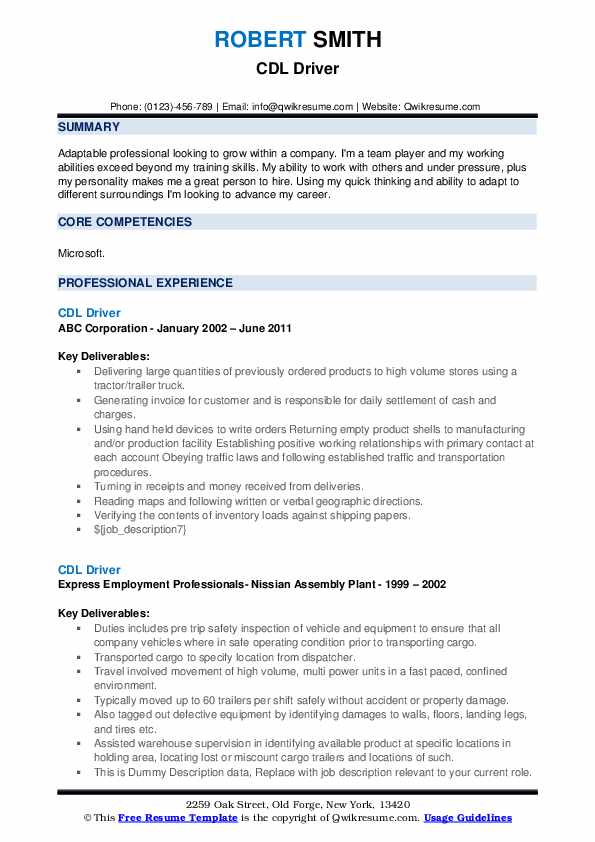 cdl driver resume samples qwikresume truck driving objective examples pdf high school Resume Truck Driving Resume Objective Examples