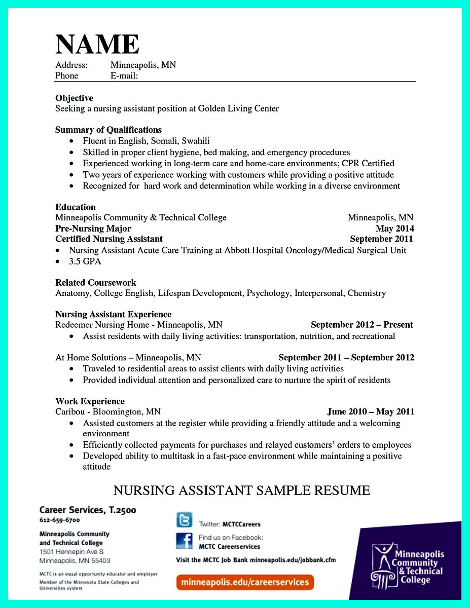 certified nursing assistant cna resume examples with experience best nurse aide marketing Resume Nurse Aide Resume Examples