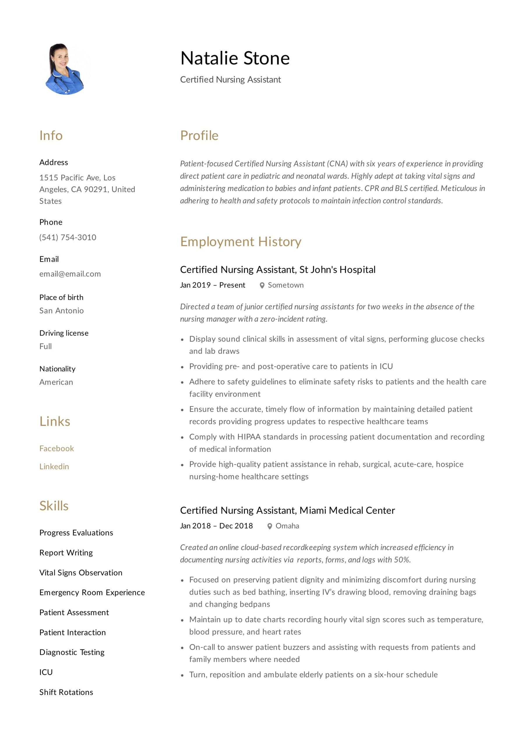 certified nursing assistant resume writing guide templates cna examples biotechnology Resume Cna Resume Examples 2020