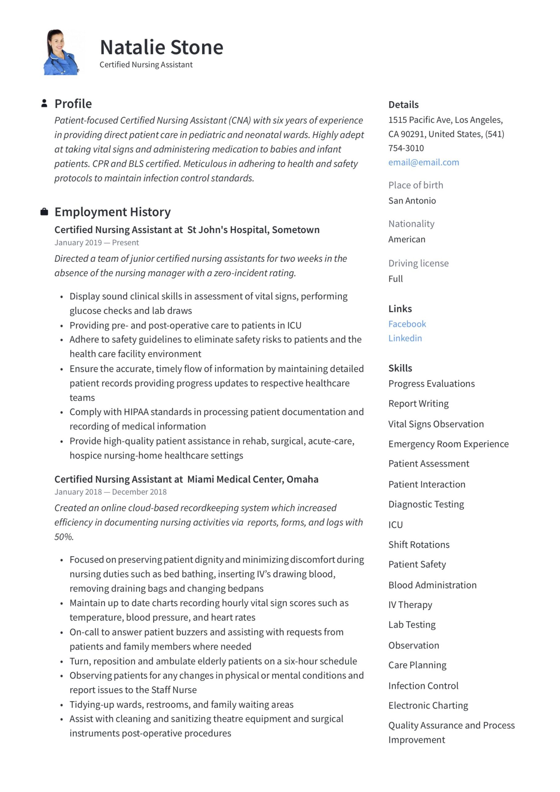 certified nursing assistant resume writing guide templates cna examples tcs upload Resume Cna Resume Examples 2020