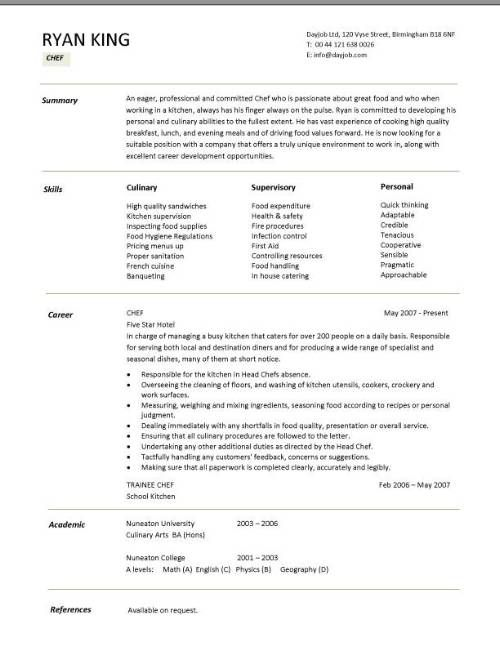 chef resume sample examples sous jobs free template chefs job description work customer Resume Sous Chef Resume Objective