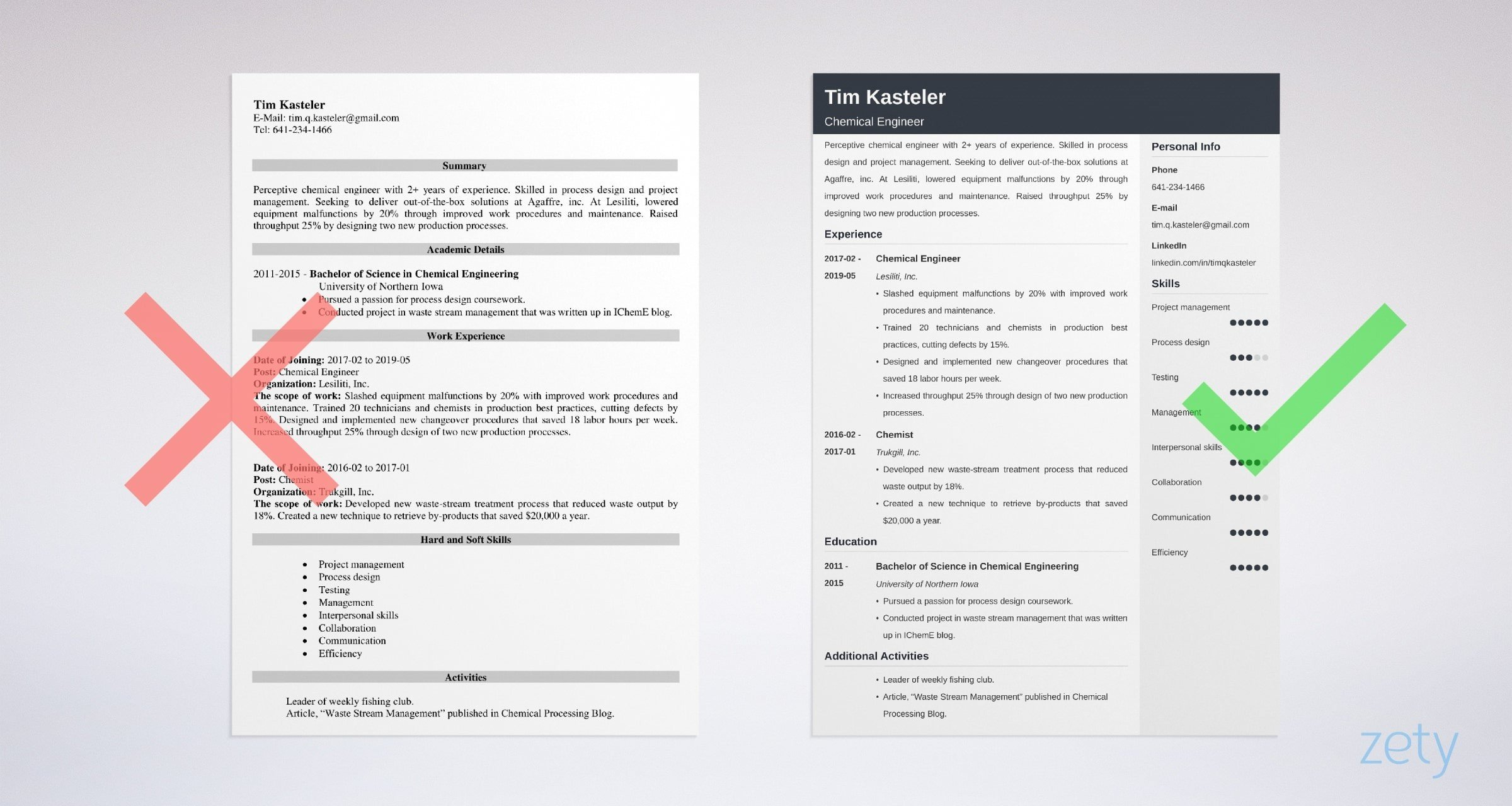 chemical engineering resume sample guide template process engineer summary example Resume Process Engineer Resume Summary