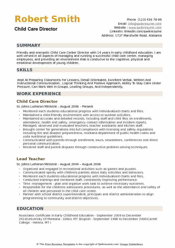 child care director resume samples qwikresume pdf best templates word accountability Resume Child Care Director Resume