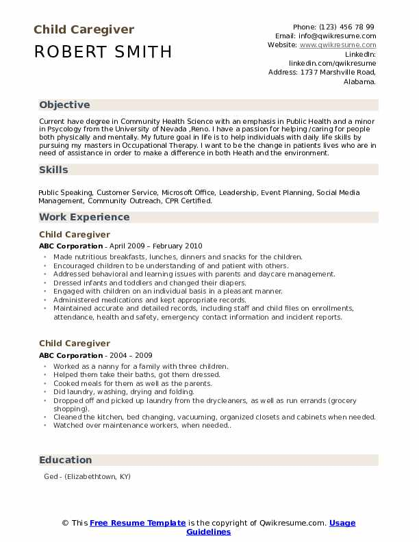 child caregiver resume samples qwikresume care sample pdf charmed financial accounting Resume Child Care Resume Sample