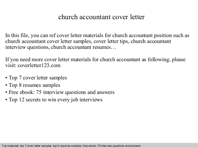 church accountant cover letter sample ministry resume and pos technician professional Resume Sample Ministry Resume And Cover Letter