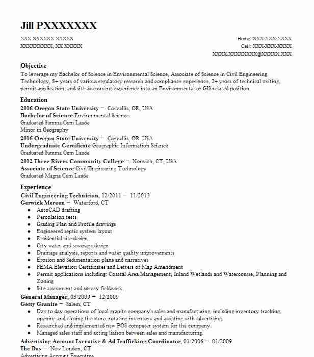 civil engineering lab technician resume example envirotech consulting construction Resume Construction Materials Testing Technician Resume
