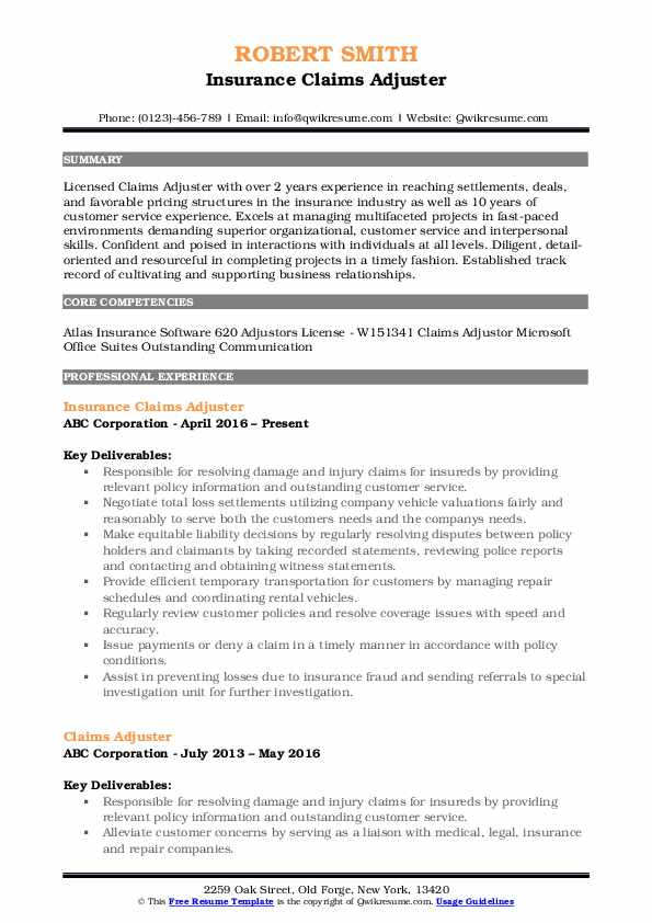 claims adjuster resume samples qwikresume summary pdf college student expected graduation Resume Claims Adjuster Resume Summary