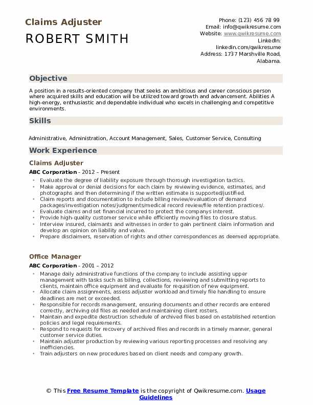 claims adjuster resume samples qwikresume summary pdf construction field electrical Resume Claims Adjuster Resume Summary
