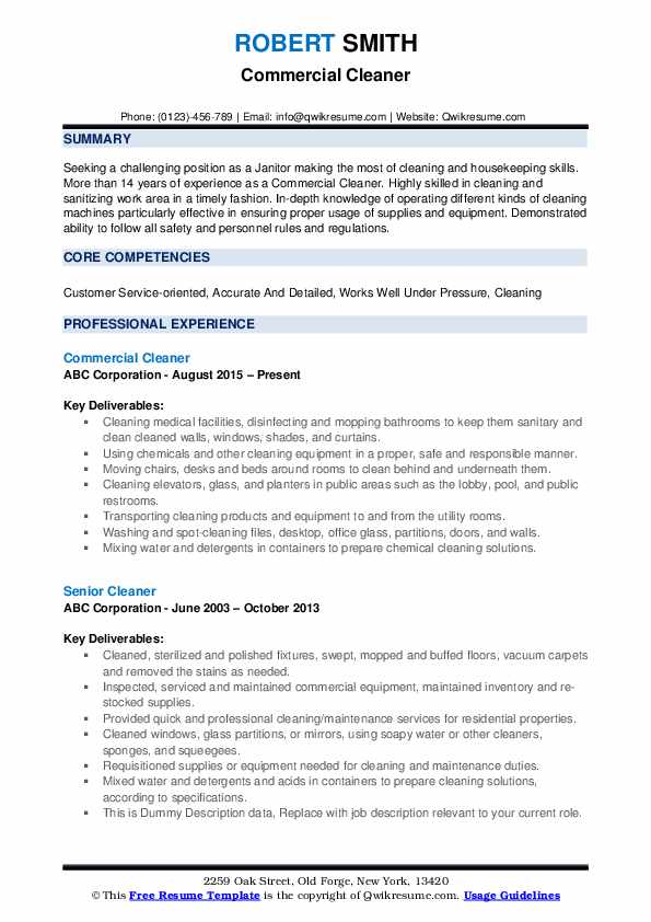 cleaner resume samples qwikresume cleaning description for pdf management consulting Resume Cleaning Description For Resume