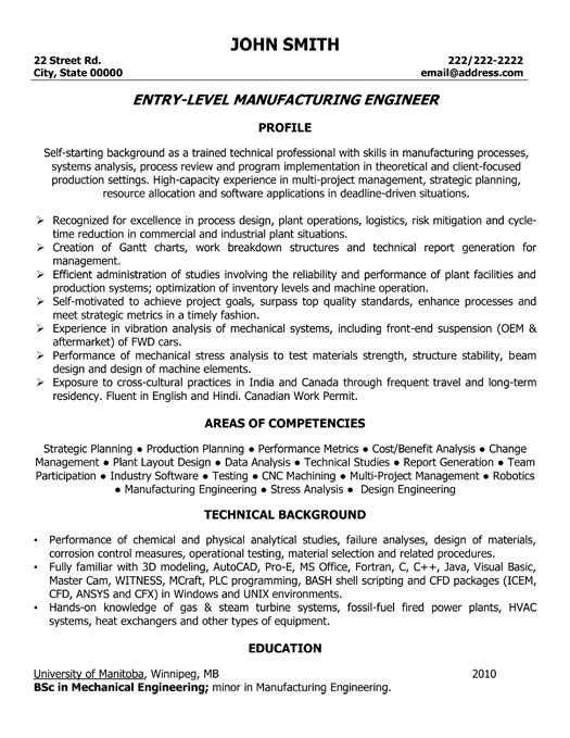 click here to this manufacturing engineer resume template http resumete mechanical Resume Manufacturing Engineer Resume