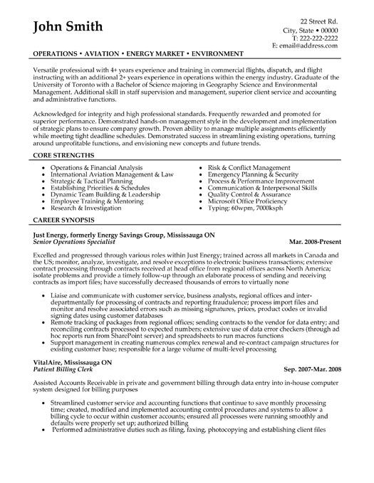 click here to this senior operations specialist resume template http resumetemplate Resume Operations Specialist Resume