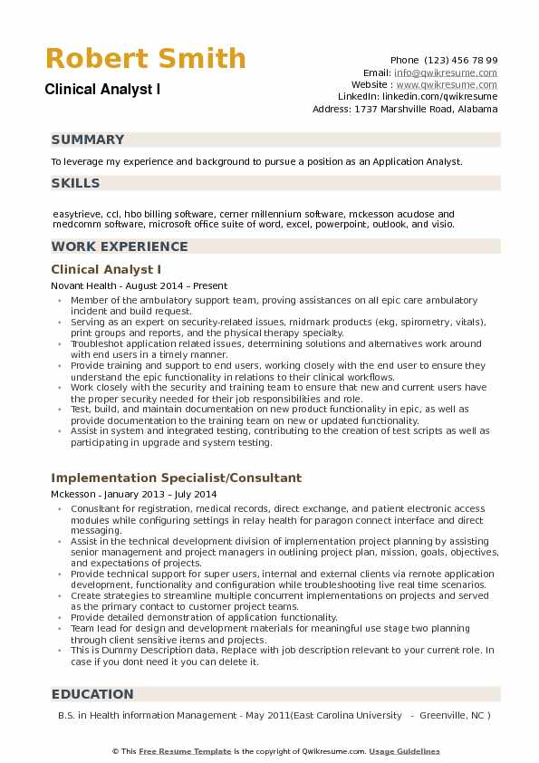 clinical analyst resume samples qwikresume health informatics objectives pdf create your Resume Health Informatics Resume Objectives