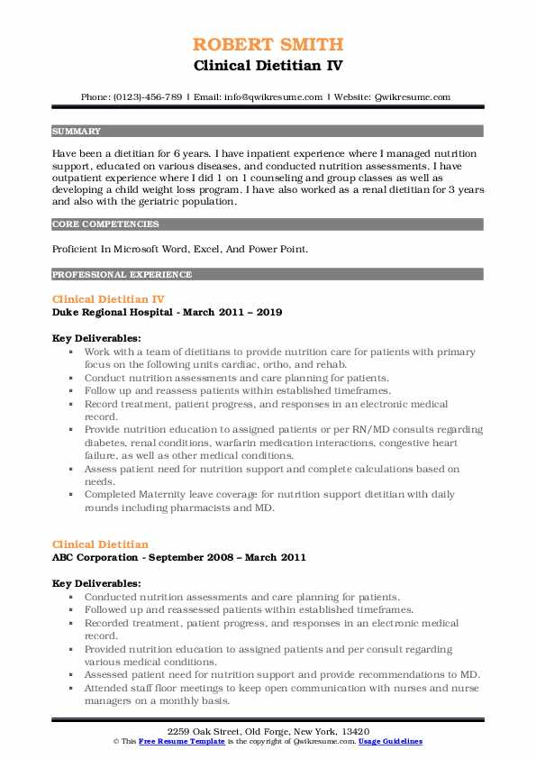 clinical dietitian resume samples qwikresume registered pdf best general objective for Resume Registered Dietitian Resume