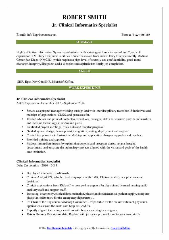 clinical informatics specialist resume samples qwikresume pdf core functional best Resume Clinical Informatics Specialist Resume