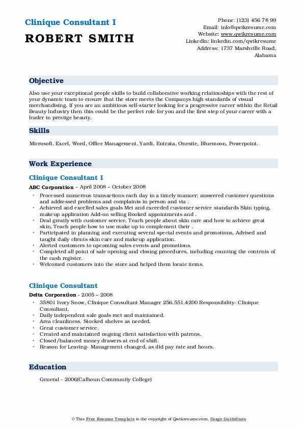 clinique consultant resume samples qwikresume pdf cover letter examples nursing home Resume Clinique Consultant Resume