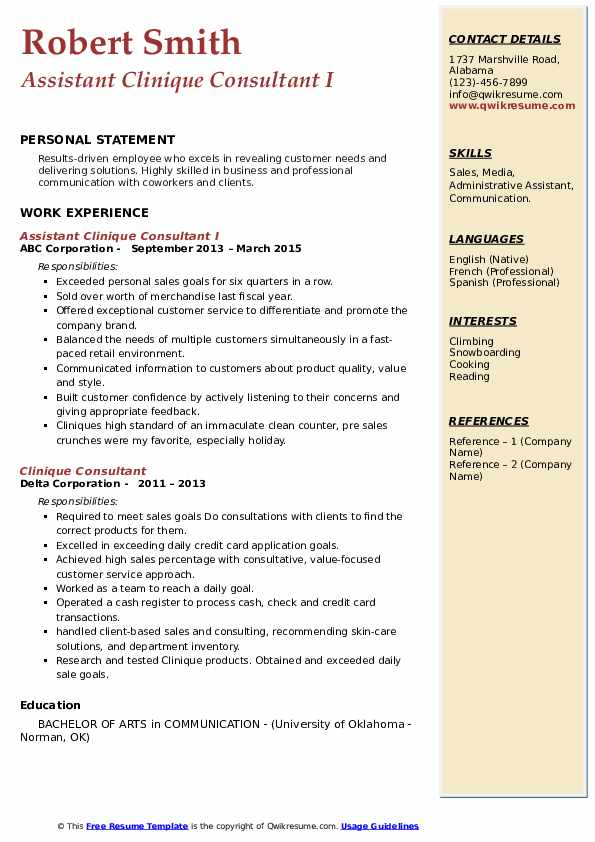 clinique consultant resume samples qwikresume pdf executive chef controller duties nanny Resume Clinique Consultant Resume