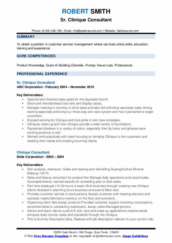 clinique consultant resume samples qwikresume pdf volunteer experience section usajobs Resume Clinique Consultant Resume