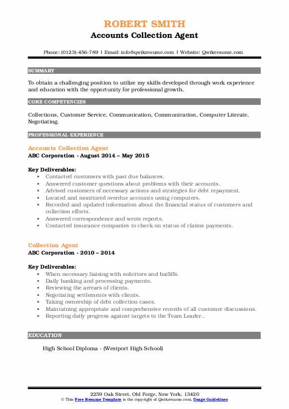 collection agent resume samples qwikresume sample pdf study abroad on awesome examples Resume Collection Agent Resume Sample