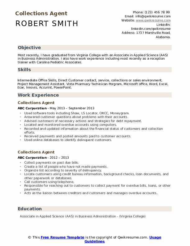 collections agent resume samples qwikresume collection sample pdf narrative material Resume Collection Agent Resume Sample